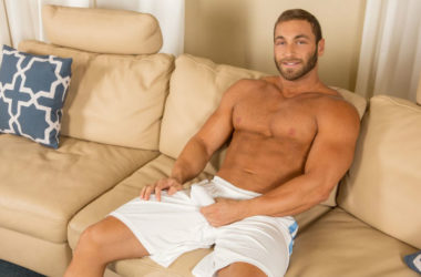Sexy muscular hunk Dimitry jerks off at Sean Cody