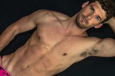 Dustin Holloway shows all at American Muscle Hunks