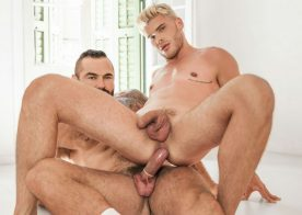 """Ken Rodeo takes Jessy Ares' thick cock in """"Ours"""" part two from Men.com"""