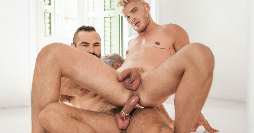 "Ken Rodeo takes Jessy Ares' thick cock in ""Ours"" part two from Men.com"