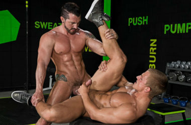 "Landon Mycles takes Jimmy Durano's big cock in ""The Trainer"" part two from Hot House"