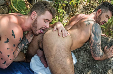 Josh Rider and Adam Kilian raw-fuck each other at Lucas Entertainment