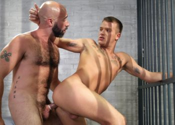 """Damon Andros stuffs Brandon Wilde's mouth and ass in """"Behave Yourself"""" from Icon Male"""