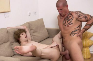 Johannes Lars takes Max Born's big cock and gets a mouthful of cum at Randy Blue