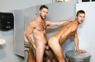 "Mike De Marko fucks Austin Carter in ""Meet at the Glory Hole"" from Pride Studios"