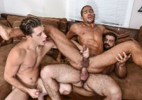 """Ricky Larkin fucks Paul Canon and Mike Maverick in """"Peepers"""" part one from Men.com"""