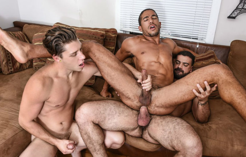 "Ricky Larkin fucks Paul Canon and Mike Maverick in ""Peepers"" part one from Men.com"