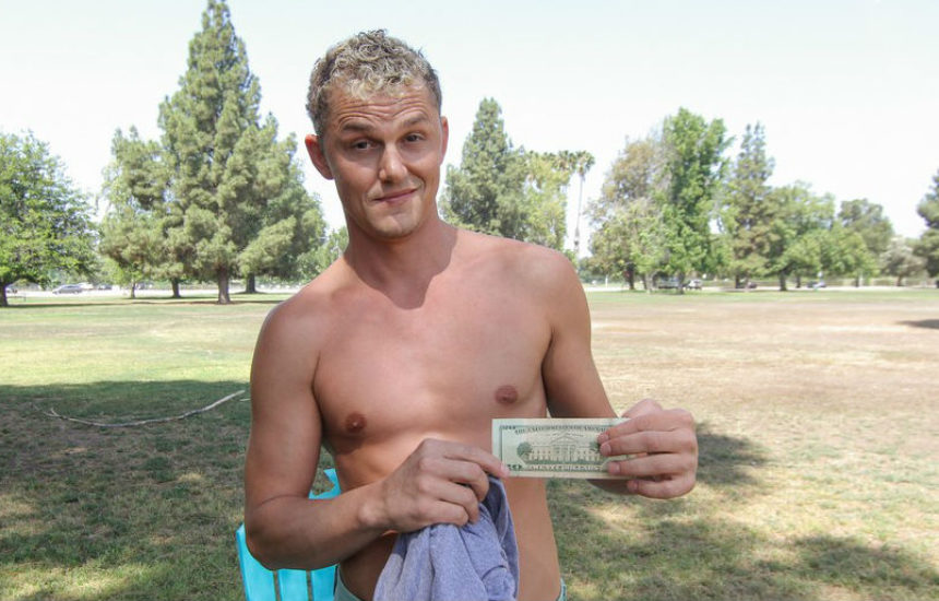 Blond straight hunk Bobby gets fucked for cash at Reality Dudes