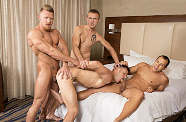 "Leon Lewis, Max London and Zane Anders fuck Brenner Bolton in ""He Likes it Rough & Raw 2"""