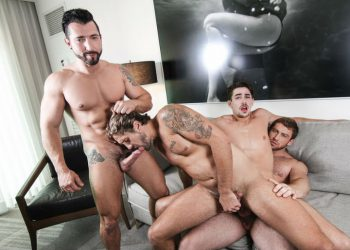 "Connor Maguire, Jimmy Durano, Jack Hunter and Wesley Woods fuck in ""His Royal Highness"" part 3"