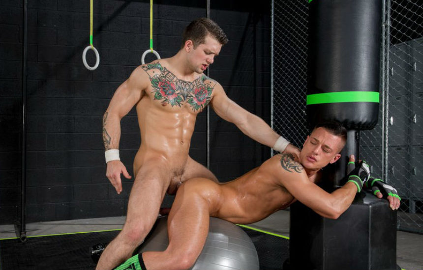 """Sebastian Kross pounds Rex Cameron in """"The Trainer"""" part one from Hot House"""