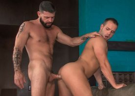 "Hung uncle Tex Davidson fucks Luke Adams in ""Say Uncle"" part four from Titan Men"