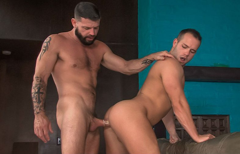 """Hung uncle Tex Davidson fucks Luke Adams in """"Say Uncle"""" part four from Titan Men"""