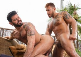 "Viktor Rom fucks Mario Domenech in ""Men of Madrid"" part five from Raging Stallion"
