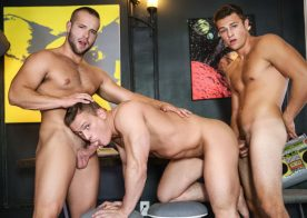"Charlie Pattinson, Luke Adams and Tommy Regan fuck in ""Weird Science"" part three"