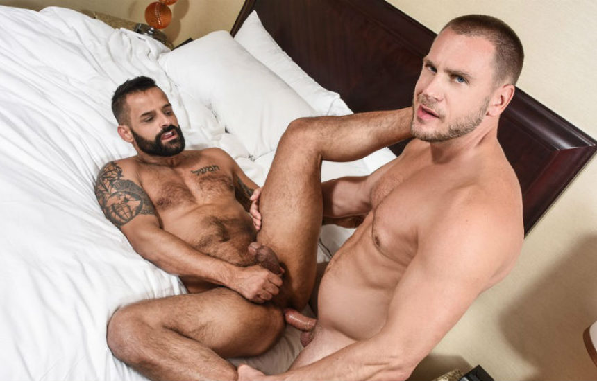 "Hans Berlin pounds David Benjamin in ""Mail Order Husband"" part three from Men.com"