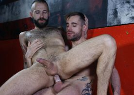 Hairy bottom Angel Garcia gets fucked by Isaac Eliad's hot dick at Butch Dixon