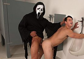 "Masked stud Brad Banks shoves his raw cock inside Tobias' ass in ""Cream For Me"" part 2"
