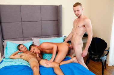 Austin Everett, Brandon Wilde and Drake Riley fuck in a Next Door World threeway