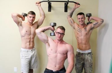 Ivan James and Quentin Gainz break in hot Active Duty newcomer Scott Ambrose