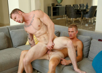 """Markie More and Ty Thomas flip-fuck in """"While He Watches"""" part two from Next Door Raw"""