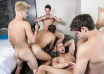 """Johnny Rapid, Will Braun, Brendan Phillips, Wesley Woods and Tobias in a big """"Pop Star"""" orgy"""