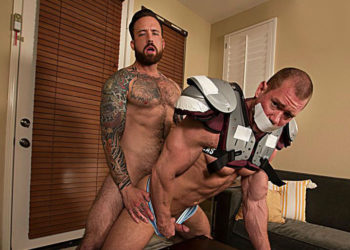 """Beau Warner takes Jordan Levine's thick cock in """"Raw Tension"""" part 1 from Bromo.com"""