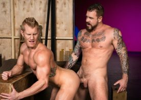 "Rocco Steele bangs muscle hunk Johnny V in ""Backstage Pass 2"" part one from Raging Stallion"
