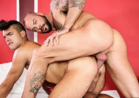 "Sean Duran rims and fucks Leo Fuentes in ""Hotline"" part three from Men.com"