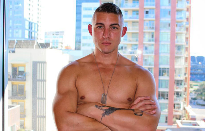 Hot hung recruit Ripley gets naked and jerks off for Active Duty