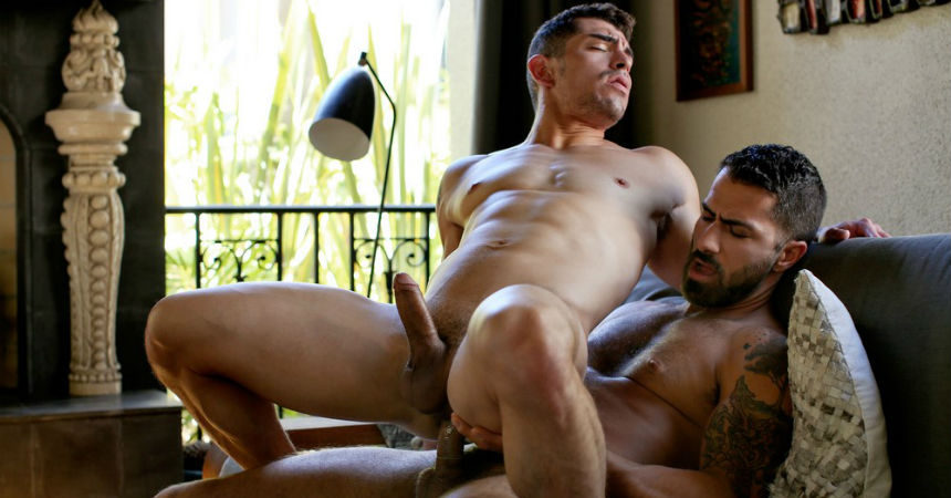 "Adam Ramzi stuffs Jeremy Spreadums' ass in ""Adam Takes Control"" from CockyBoys"