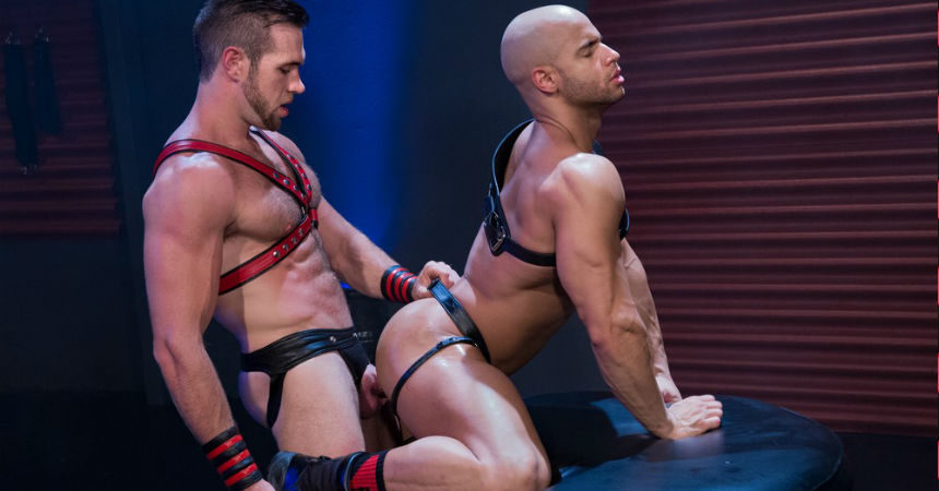 Muscle hunks Alex Mecum and Sean Zevran suck and fuck each other for Hot House