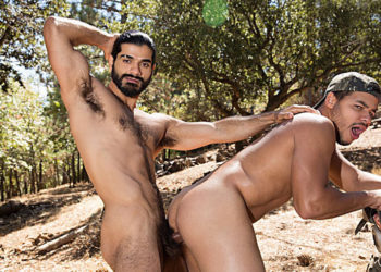 "Kaden Alexander takes Ali's big Arab dick in ""Dirty Rider 2"" part four from Bromo"