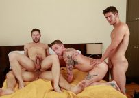 """Jimmy Clay, Lance Ford, Griffin Barrows and Allen Lucas fuck in """"Caught Cock-Handed"""""""