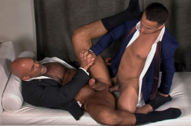 "Alex Graham and Jesse Jackman flip-fuck in ""Cauke For Free"" part two from Titan Men"
