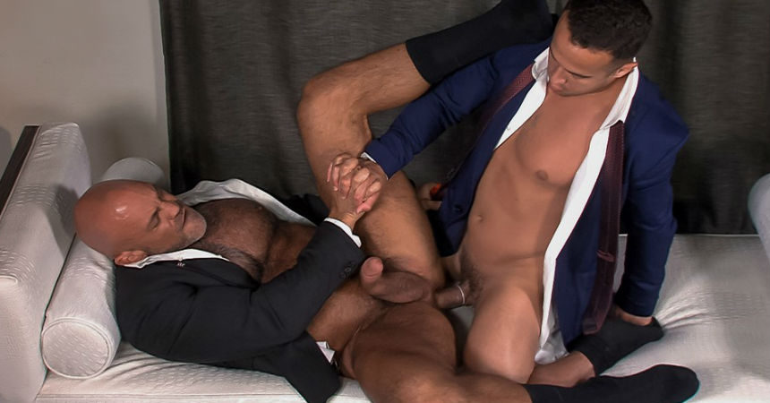 """Alex Graham and Jesse Jackman flip-fuck in """"Cauke For Free"""" part two from Titan Men"""