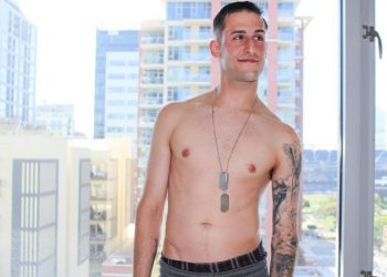 Hot recruit James Devlin gets naked and jerks off for Active Duty