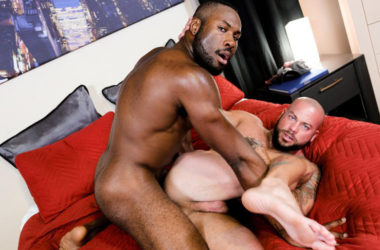 "Sean Duran bottoms for Noah Donovan in ""Big Cock Vacation"" part two from Pride Studios"
