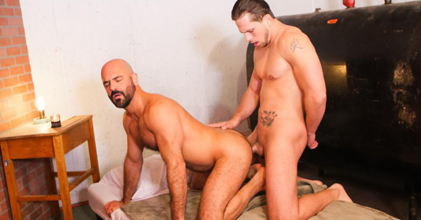 """Roman Todd fucks hairy daddy Adam Russo in """"Escorts and Daddies"""" from Icon Male"""
