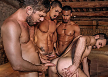 Ibrahim Moreno, Jacen Zhu, Wolf Rayet and Zander Craze fuck at Lucas Entertainment