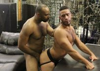 Trey Turner's ass gives Ray Diesel's raw dick a firm hug at Breed Me Raw