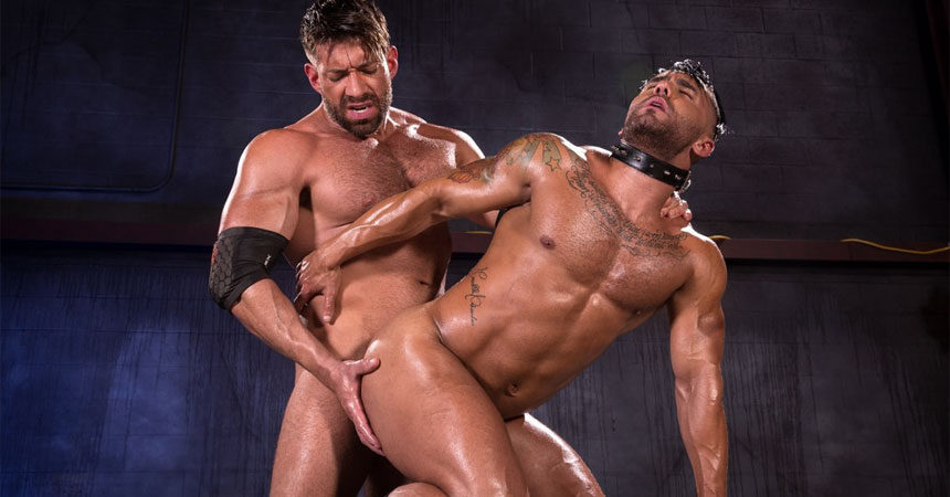 "Bruce Beckham slams his big cock deep inside Bruno Bernal in ""Wasteland"" part one"