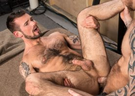 "Chris Harder and Damien Michaels flip-fuck in ""Backstage Pass 2"" part three from Raging Stallion"