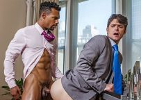 Jacen Zhu and Devin Franco in a raw flip-fuck scene from Lucas Entertainment