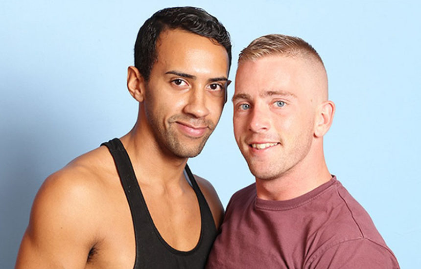 Muscle hunks Jay Alexander and Scott Riley fuck each other at College Dudes