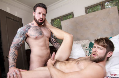 "Colby Keller gets fucked by Jordan Levine in ""Ghosts of Christmas"" part four from Men.com"