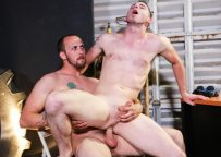 """Toby Springs rides Dustin Steele's cock in """"Pay Up Or Else"""" from Pride Studios"""