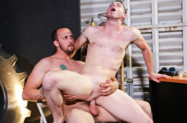 "Toby Springs rides Dustin Steele's cock in ""Pay Up Or Else"" from Pride Studios"