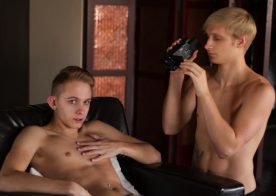 Max Carter lends Nathan Reed a helping hand at Helix Studios