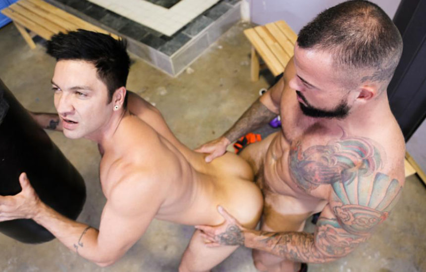 "Dominic Pacifico gets his ass fucked by Sean Duran in ""Training Hard"" part two"